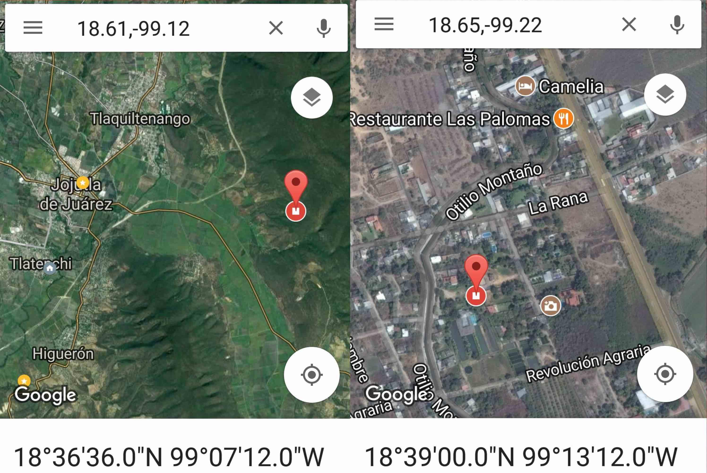Epicentros sismo