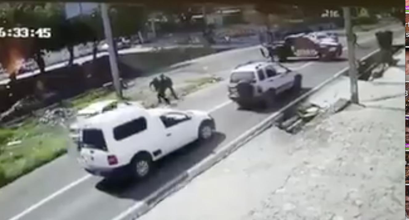 Atropellan a polis