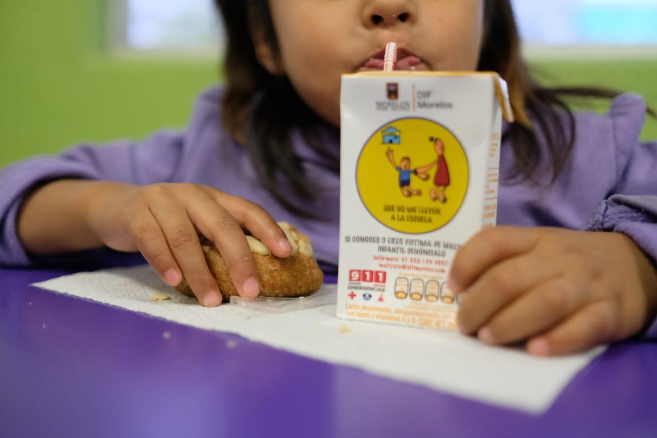 Niños alimentacion dif