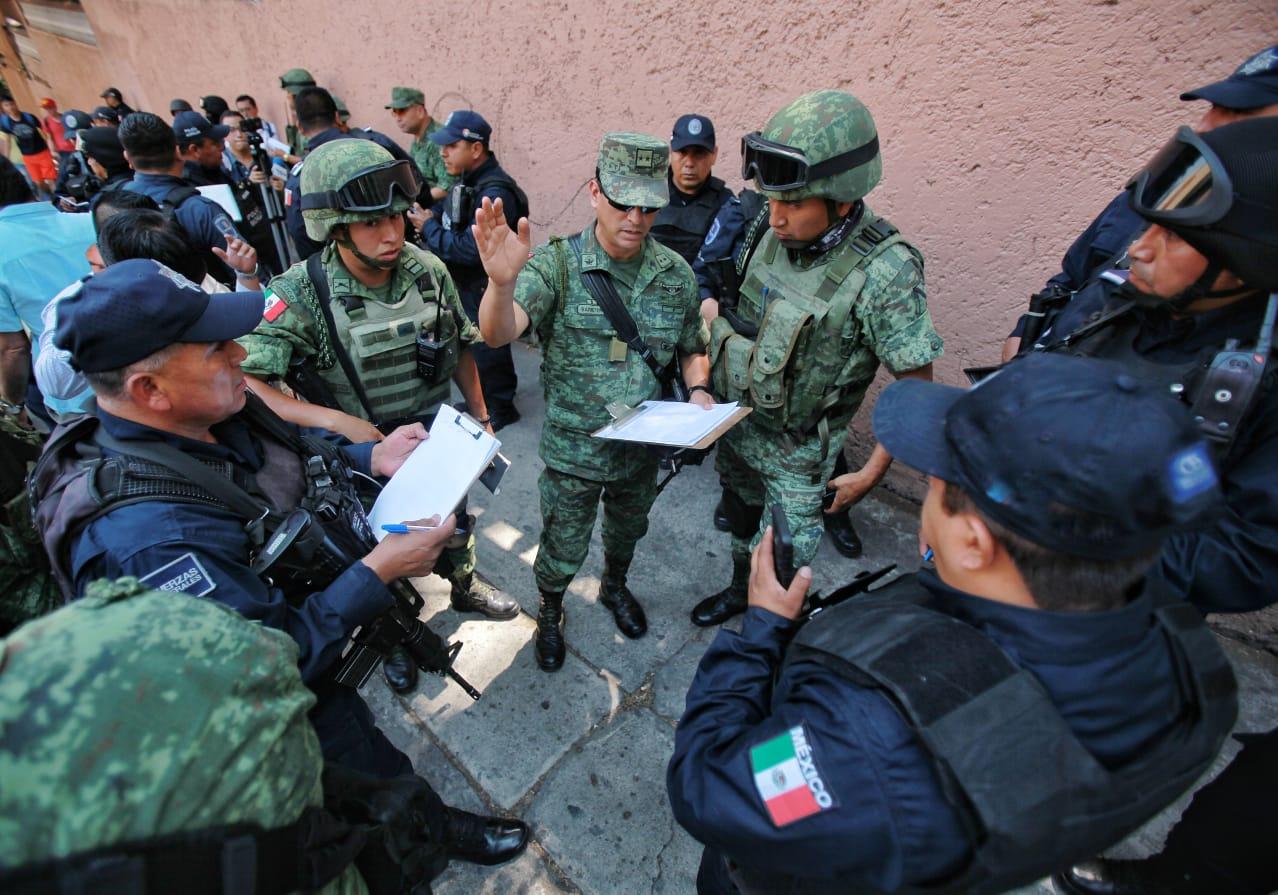 Sedena y policia Cuerna