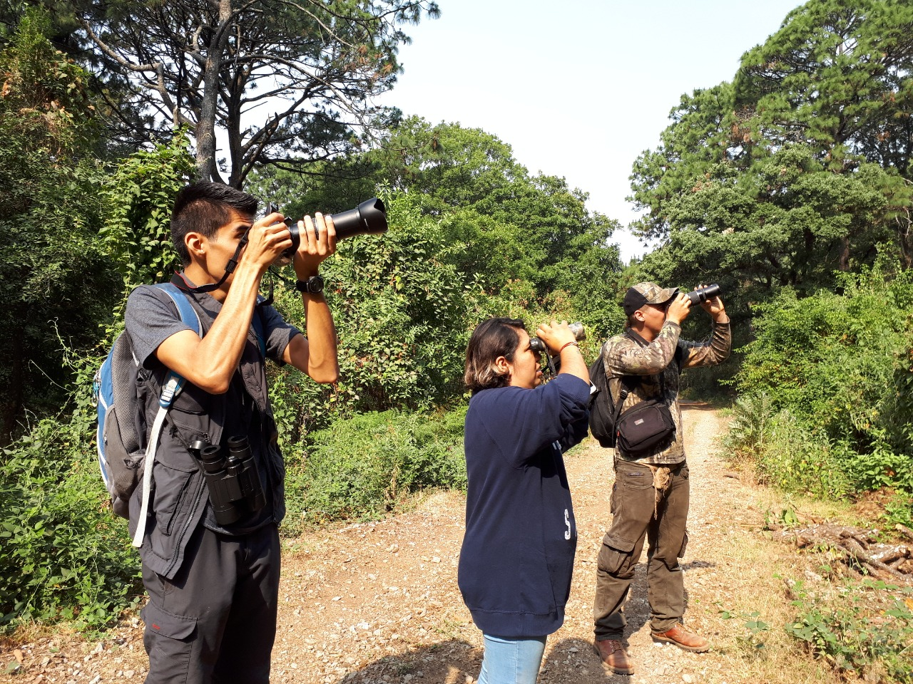 Fotografos recorrido naturista